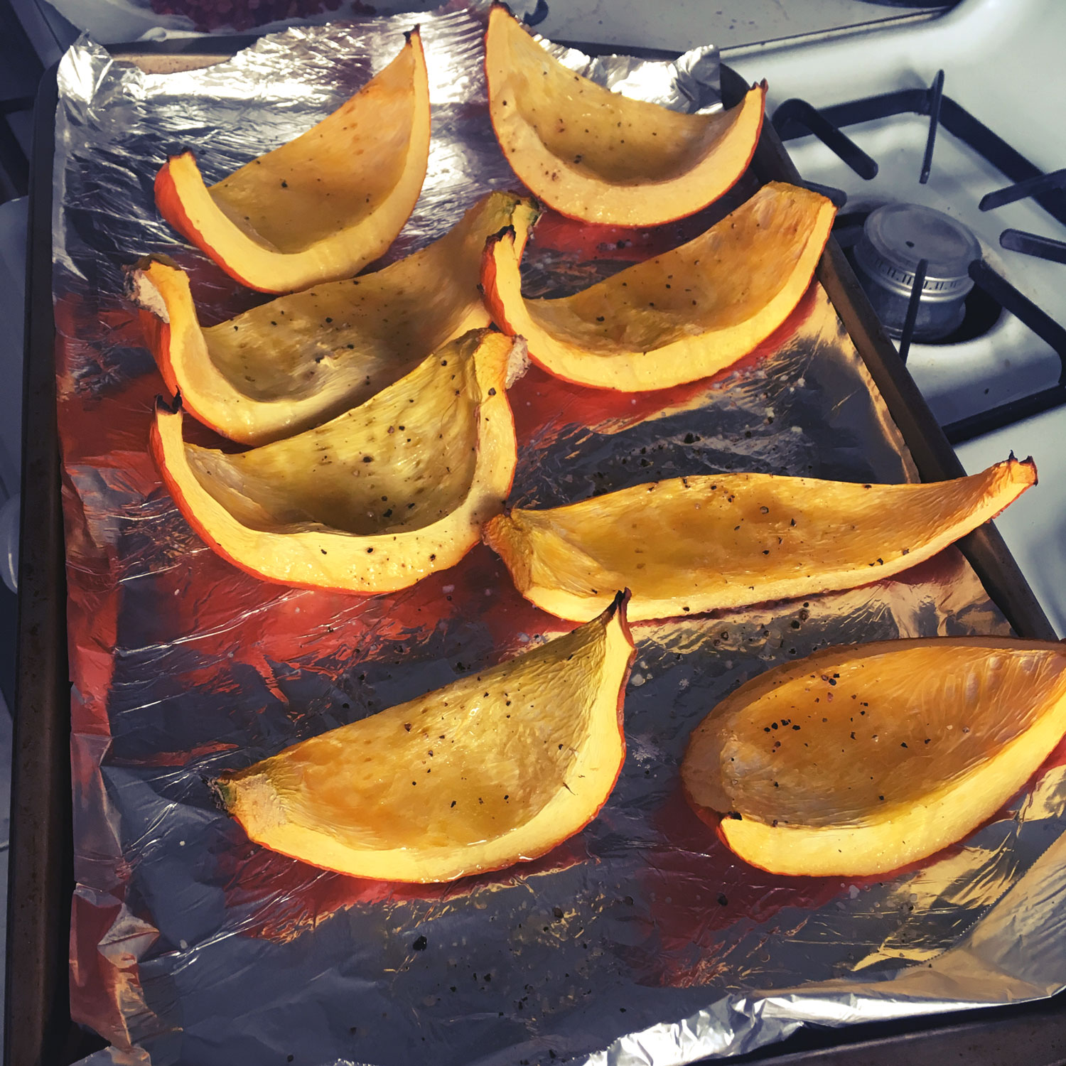 Cooked Pumpkin Boats